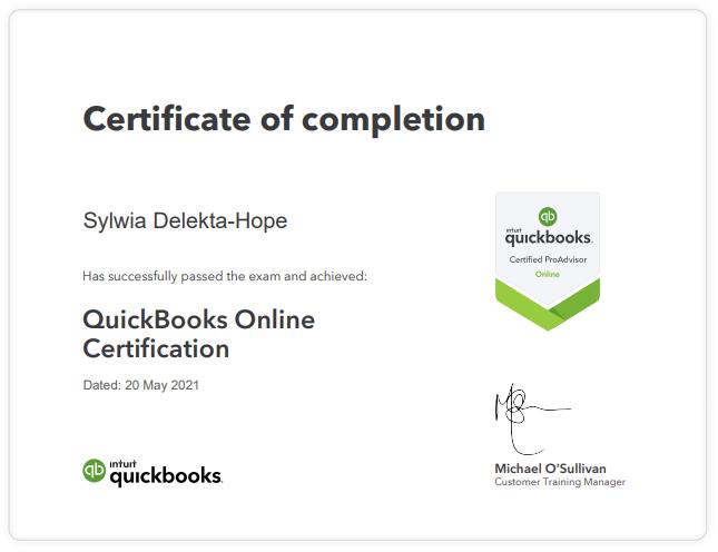 Certified Quickbooks Advisor
